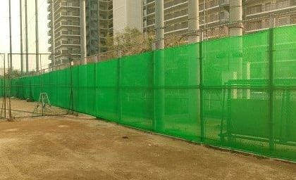 神戸市立科学技術高等学校 グラウンド防砂ネット張替工事