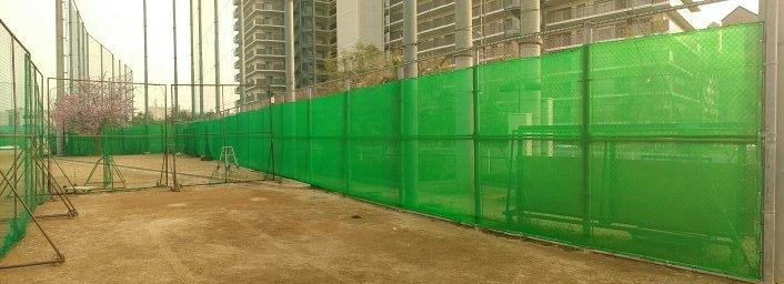 神戸市立科学技術高等学校 グラウンド防砂ネット張替工事-完成