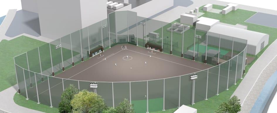 シオノギ製薬野球場-完成予定図