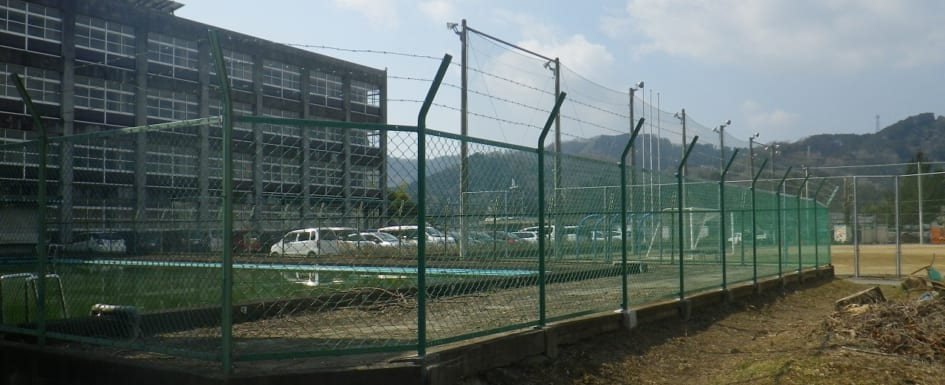 夢前高等学校 フェンス改修工事
